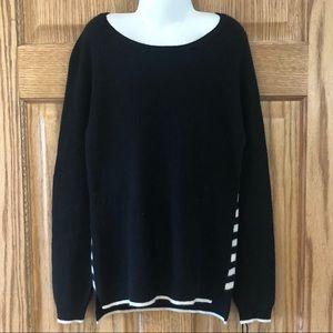 3/$25 100% Cashmere Max Studio Striped Sweater 10